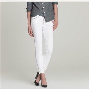 JCrew Matchstick White Jeans